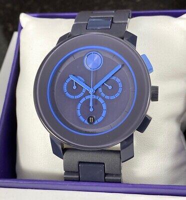 Movado Bold Chronograph 43mm Men's Watch | Blue Dial | Swiss Movement | 3600270