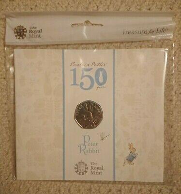 Beatrix Potter 50p Coin 2016 Peter Rabbit Royal Mint Collectors