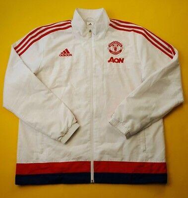 f763164ea 4.9 5 Manchester United training jacket size large AC1958 Adidas soccer ig93