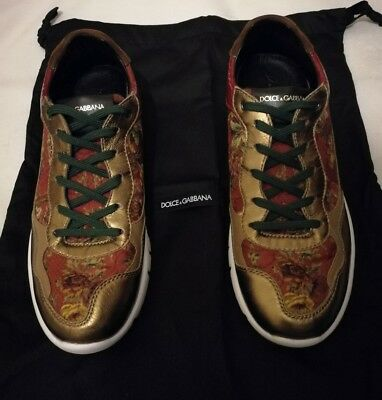 Dolce And Gabbana Ck0039 Floral Trainers Size uk 6 eu 39