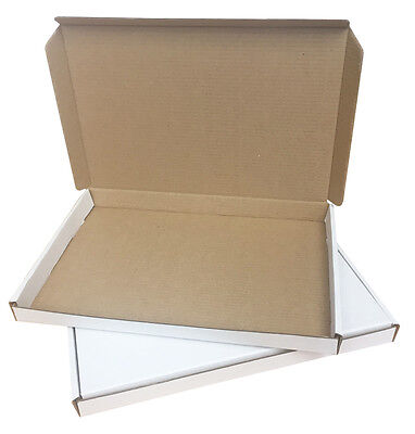 A5 Postal Boxes / Mailing Boxes. White 235x160x19mm. 25/Pack