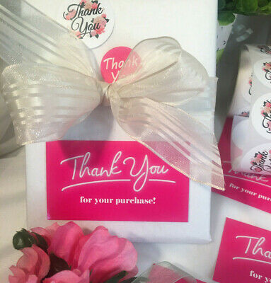 Thank You For Your Purchase Business Cards Stickers 50 Sets 50 Stickers