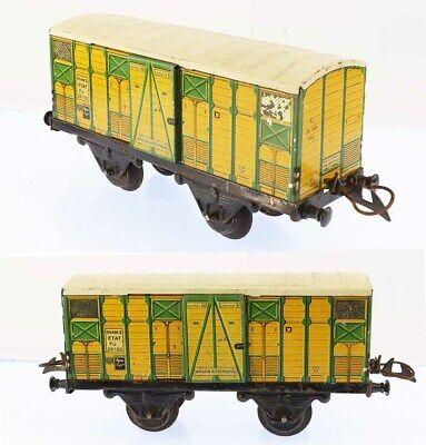 Train echelle O HORNBY WAGON A PRIMEURS vers 1938 / jouet ancien antique toy
