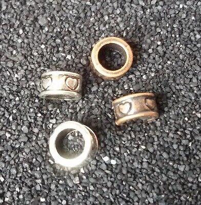 10/20/30 Herz Beads Großloch Perlen Paracord Armband Großlochperlen H06 + H29