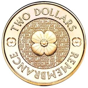 2012 $2 Gold poppy remembrance coin