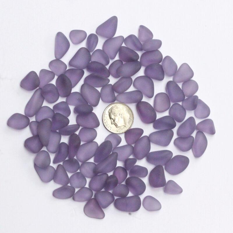 sea beach glass 20 pieces purple lots bulk jewelry use