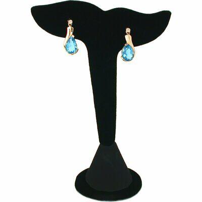 Black Velvet Leaf Earring Display Stand Showcase 5