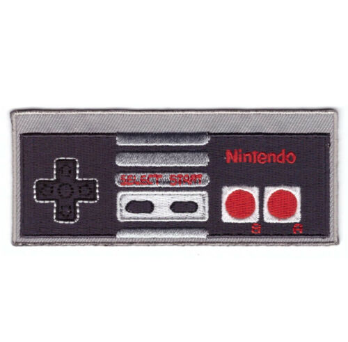"""4"""" Controller Nintendo Mario Gaming Collectible NES Old School Iron on Patch"""