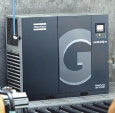 2009 Atlas Copco Ga-75vsd 100 Hp Rotary Screw Compressor W Intergrated Dryer