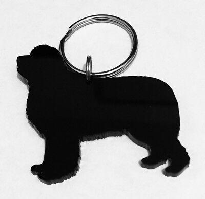 Newfoundland Dog Charm - Newfoundland Dog Keyring Lanyard Keychain Bag Charms Gift