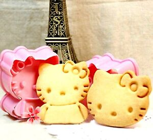 Hello Kitty Cookie Cutter Biscuit Embossed Cake Decoration Push Mold