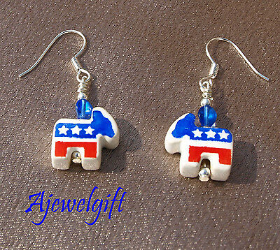 Democratic Donkey Earrings 12055