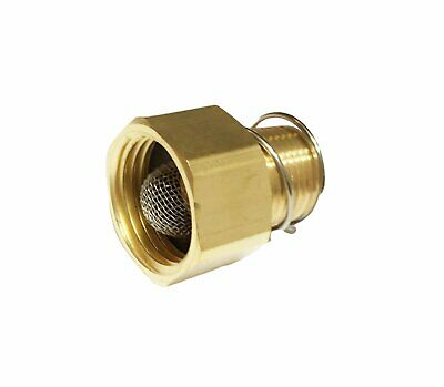 Pressure Washer Adapter Coupler W Filter Screen 34 Garden Hose X 38 Npt