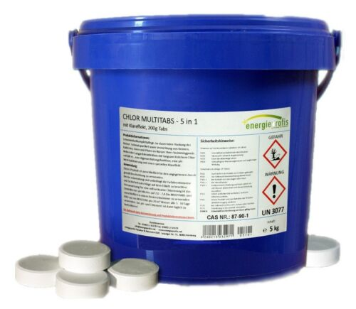 5 kg Multitabs 200g 5 in 1 Chlor Tabletten Desinfektion Pool