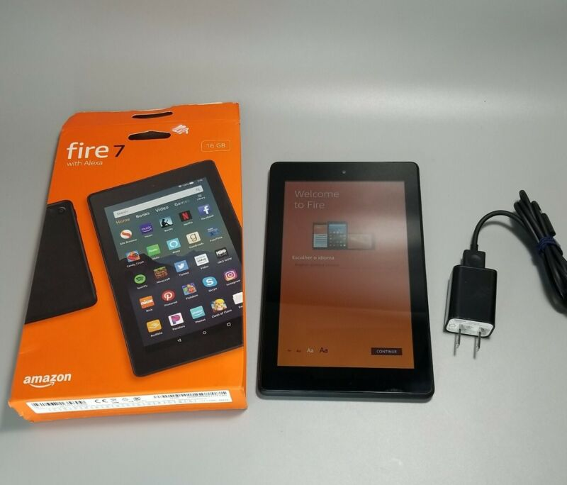 "Amazon Kindle Fire HD 7"" - 9th Gen - M8S26G, Black, Factory Reset"