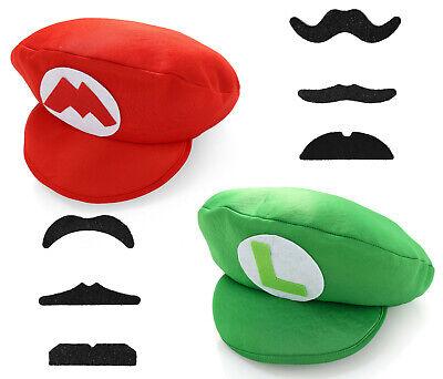 Super Mario Bros Luigi Foam Hat Cap and - Super Mario Hats