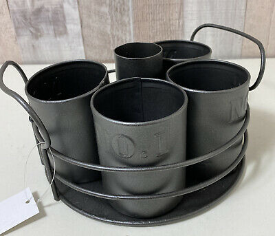 Rotating Metal Desk Organizer Pen Holder Office Supplies Storage Caddy Rack