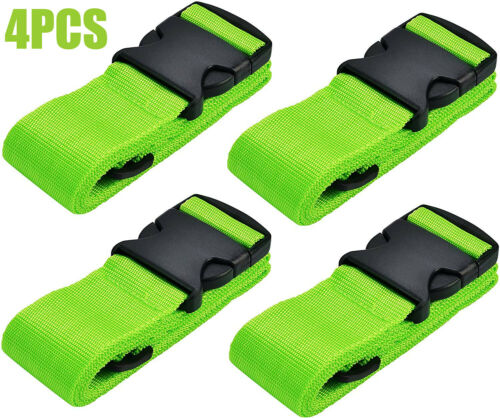 """4x Luggage Straps Suitcase Straps Travel Belts fit for 16""""-32"""" Suitcase Baggage"""