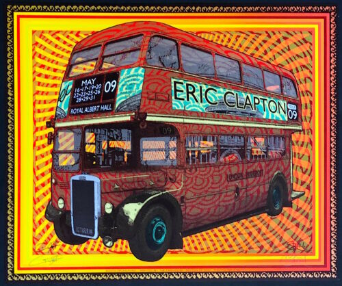 MINT & SIGNED Eric Clapton 2009 Sperry Firehouse Royal Albert Hall A/P Poster