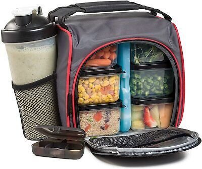HomEquip Meal Prep Lunch Bag with 6 Portion Control Food Boxes: Best (Best Food Prep Meals)