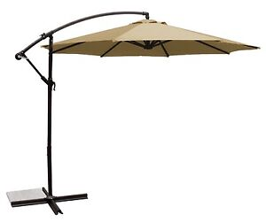 Extra large patio umbrella and stand