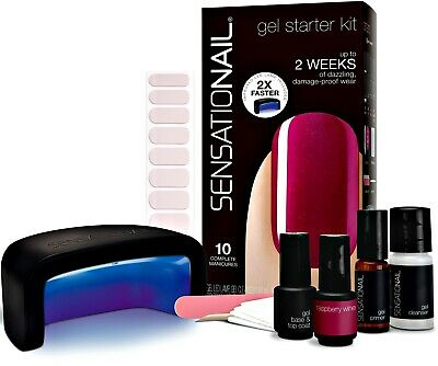Sensationail gel polish starter kit - raspberry wine