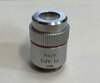 Leitz Plan Pl Apo 4x0.14 Microscope Objective 160mm Plan Apochromat