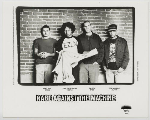 Rage Against The Machine, Press Photo, 8x10 Glossy, Original, 1996, Sony Records