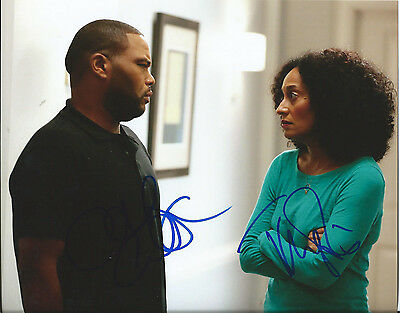 Tracee Ellis Ross   Anthony Anderson Dual Signed Black Ish 8X10 Photo W Coa