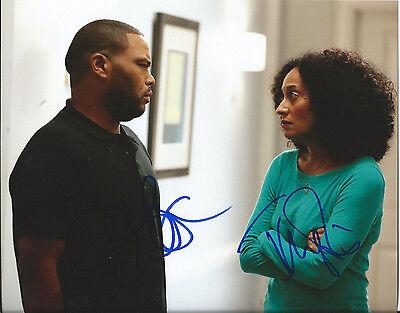 Tracee Ellis Ross   Anthony Anderson Dual Signed Black Ish 8X10 Photo W Coa