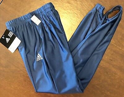 ADIDAS MENS X-SMALL NAVY GK GYMNASTIC COMPETITION STIRRUP PANTS AXS WAS $61.99!