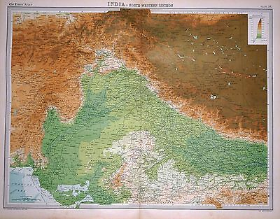 1920 LARGE MAP ~ INDIA ~ NORTH-WESTERN SECTION ~ 23