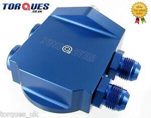Torques-Remote-Billet-Aluminium-Oil-Filter-Housing-Blue-AN-10-JIC-10-3-4-UNF