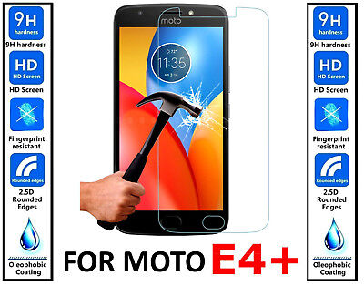 Genuine 100% TEMPERED GLASS HD Screen Protector Cover For Motorola Moto E4 PLUS