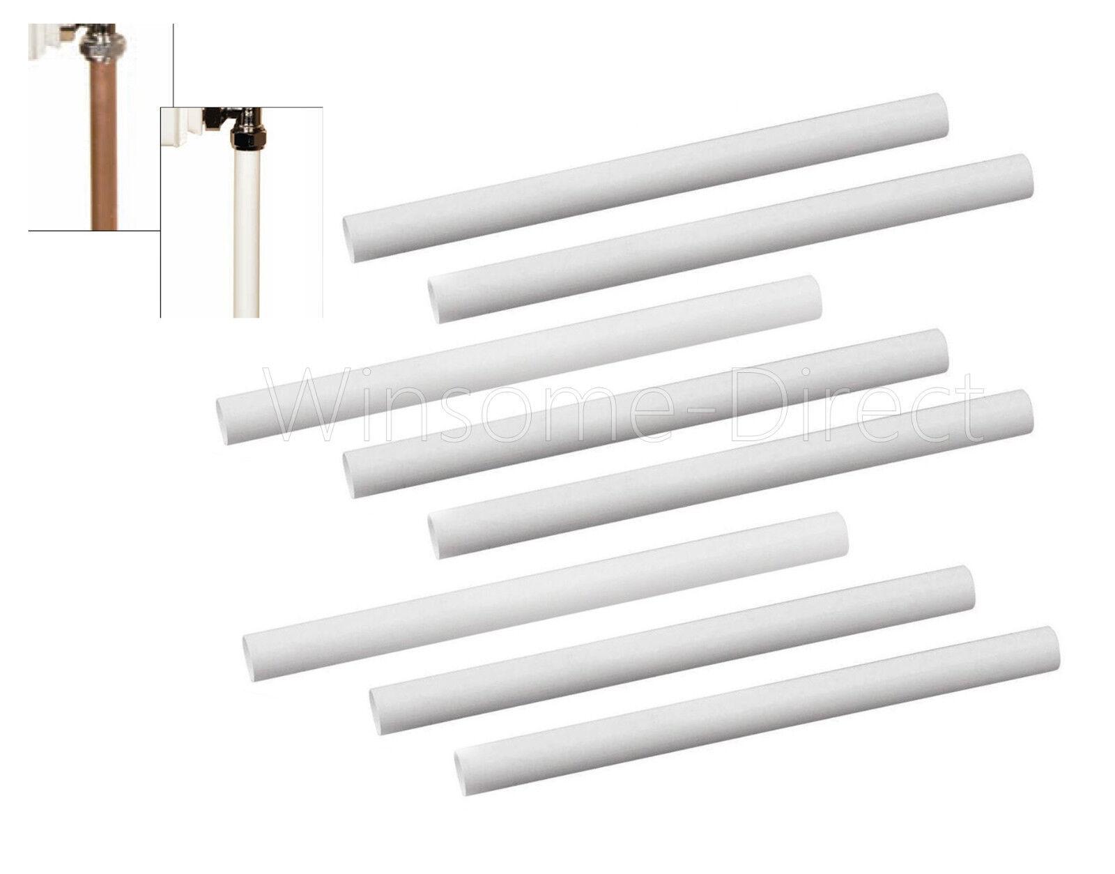 8 X 15 6 Cm White Plastic Radiator Sleeves Pipe Cover Ring