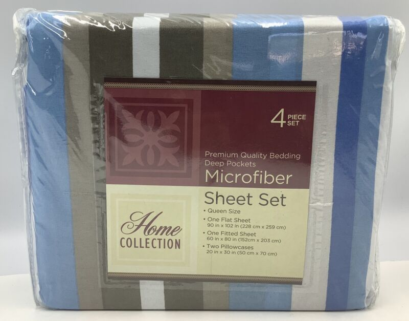 Home Collection 4 Piece Set Premium Quality Bedding Deep Pockets