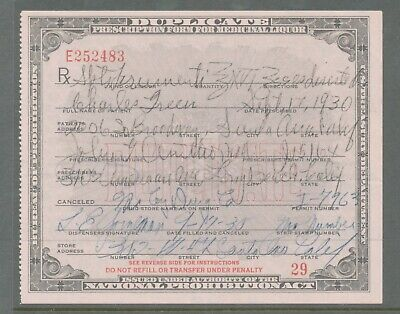 A67 - VINTAGE 1930 NATIONAL PROHIBITION ACT