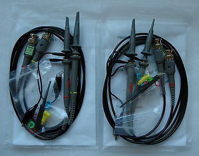 4x 100mhz Oscilloscope Scope Analyzer Clip Probe Test Leads Kit For Hp Tektronix