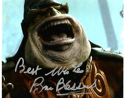"Star Wars Brian Blessed Hand Signed 8x10"" Photo UAFTAL COA Autograph Boss Nass"