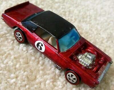 Vintage 1960s Mattel Redline Hot Wheels - TNT BIRD - Dark Red - Repainted