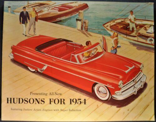 1954 Hudson Large Catalog Sales Brochure Hornet Wasp Jet Excellent Original 54
