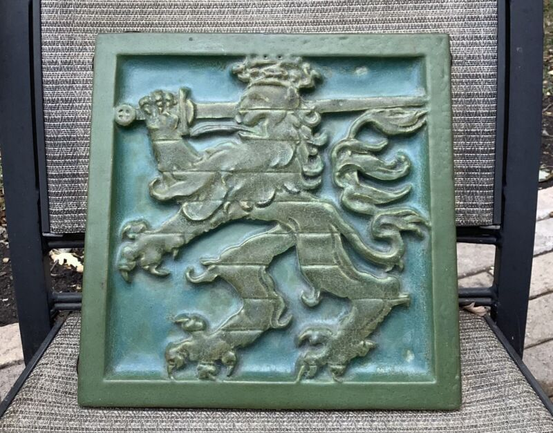 ANTIQUE SIGNED/NUMBERED LARGE ROOKWOOD FAIENCE GRIFFIN TILE!!