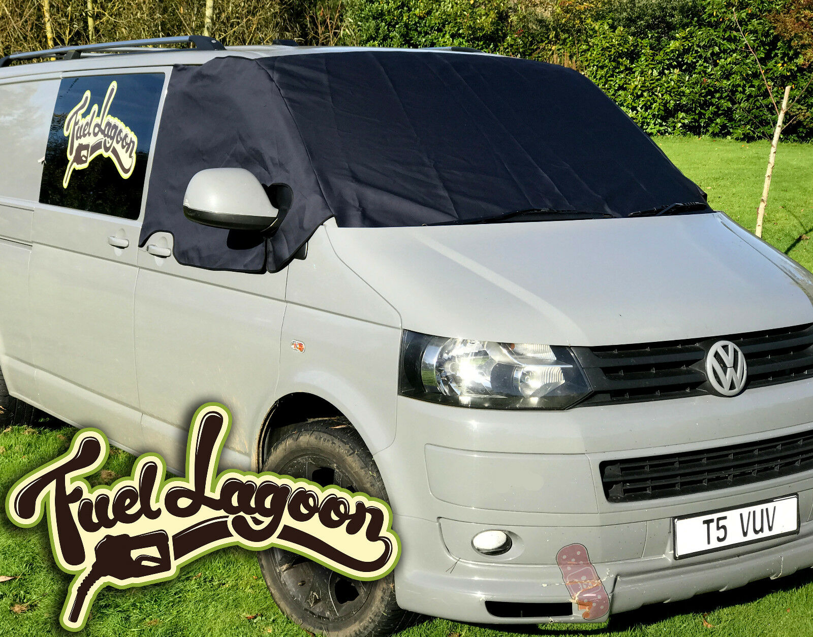 Deluxe VW Transporter T5 Window Front Screen Curtain Wrap Cover Winshield Navy