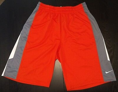 a6b23f61c520 NWT Nike XL basketball-style shorts orange with gray and white trim