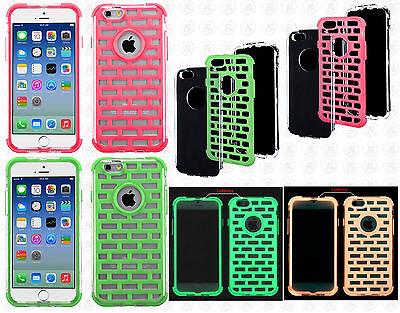 Apple iPhone 6 / 6s Lightning Brick Hybrid Dual Layered Skin Case Phone Cover