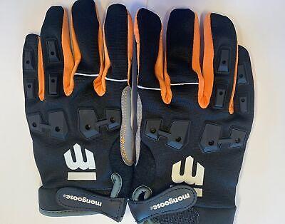 Mongoose L/XL Full Finger Bike Bicycle Padded Gloves Black B