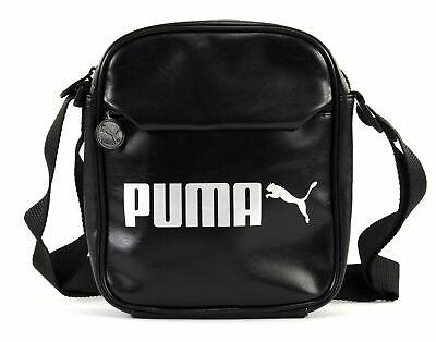 PUMA Campus Portable Umhängetasche Tasche Puma Black Schwarz Silber Neu ()