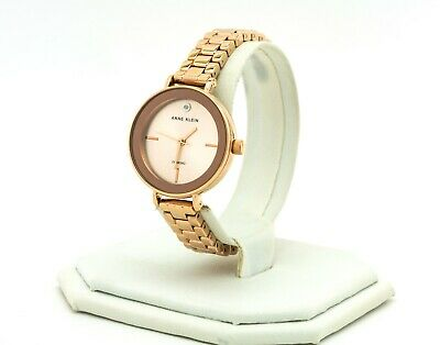 Women's Anne Klein Watch, Rose Gold Stainless Steel Watch AK/3386RGRG, New