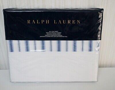 Ralph Lauren Archival Collection Job Lane Stripe Cotton Full Flat Sheet  $130