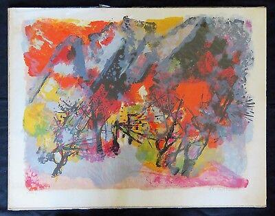 MAURICE-ELIE SARTHOU  (FR 1911-2000) ORIGINAL LITHOGRAPH PENCIL SIGNED NUMBERED